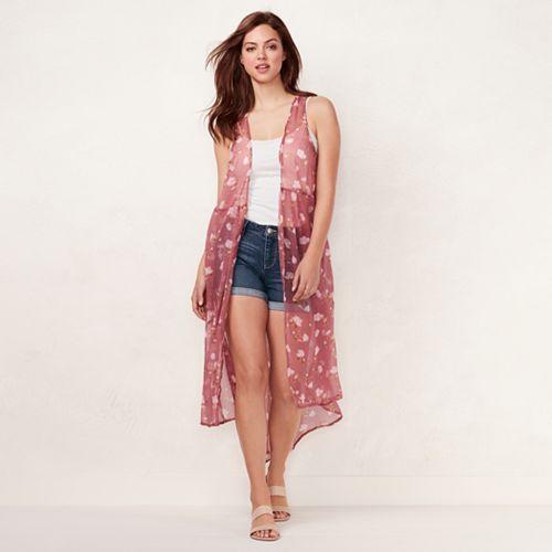 Women's LC Lauren Conrad Scattered Blooms Vest