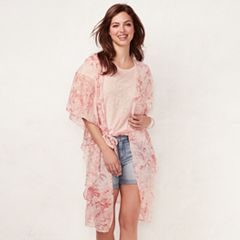 Women's LC Lauren Conrad Flutter Belted Kimono