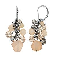 Simply Vera Vera Wang Pink Bead Nickel Free Cluster Drop Earrings