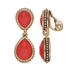 Napier Double Drop Clip-On Earrings