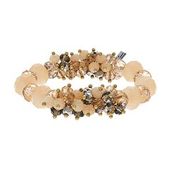 Simply Vera Vera Wang Peach Bead Cluster Stretch Bracelet