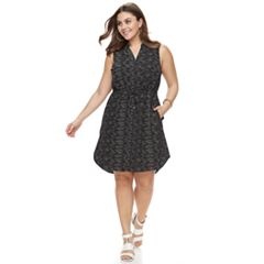 Plus Size Apt. 9® Drawstring Shirtdress