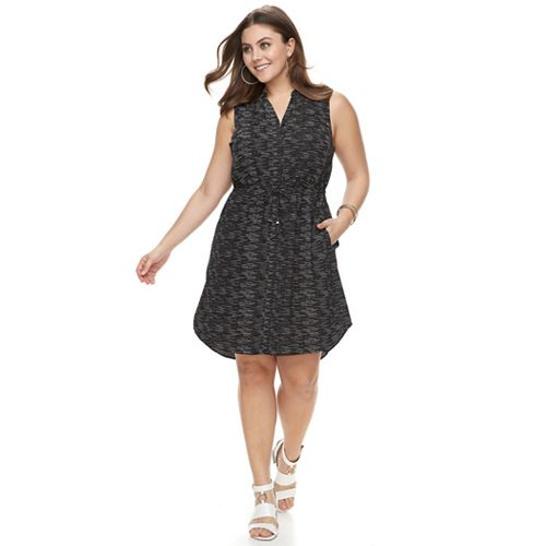Plus Size Apt. 9® Drawstring Shirtdress