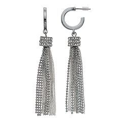 Simply Vera Vera Wang Two Tone Chain Nickel Free Tassel Drop Earrings
