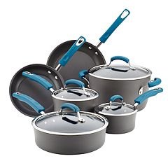 Rachael Ray 10-pc. Hard-Anodized Aluminum Nonstick Cookware Set