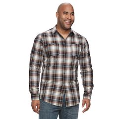 Big & Tall Urban Pipeline™ Awesomely Soft Regular-Fit Plaid Flannel Button-Down Shirt