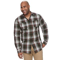 Big & Tall Urban Pipeline® Awesomely Soft Regular-Fit Plaid Flannel Button-Down Shirt