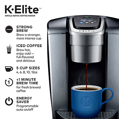 Keurig® K-Elite® Single-Serve K-Cup Pod® Coffee Maker, Iced Coffee Capability