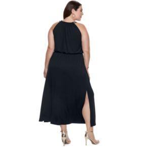 Plus Size Apt. 9® Strappy Blouson Maxi Dress