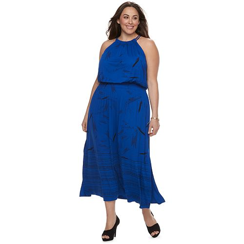Plus Size Apt 9 Strappy Blouson Maxi Dress