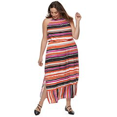 Plus Size Apt. 9® Strappy Blouson Maxi Dress