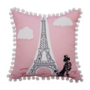 Waverly Kids Ooh La La Embroidered Throw Pillow