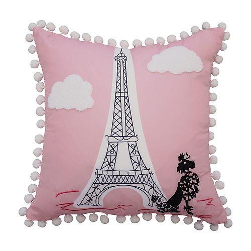 Waverly Kids Ooh La La Embroidered Throw Pillow