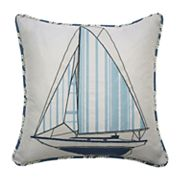 Waverly Kids Set Sail Embroidered Throw Pillow