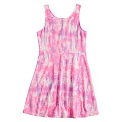 Girls 7-16 & Plus Size SO® Printed Skater Dress