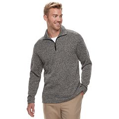 Men's Haggar® Classic-Fit Sweater Fleece Quarter-Zip Pullover