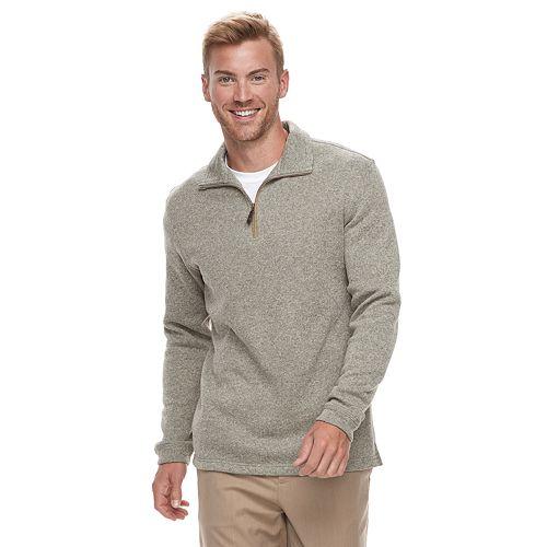 Men's Haggar® Classic-Fit Sweater Fleece Quarter-Zip Pullover