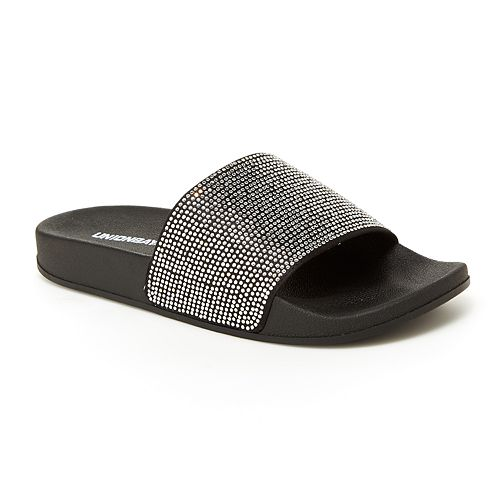 f8e10fc5cbfc57 Unionbay Chandelier Women s Rhinestone Slide Sandals