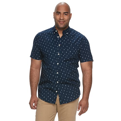 Big & Tall Urban Pipeline® Awesomely Soft Regular-Fit Plaid Button-Down Shirt