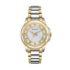 Bulova Women's Diamond Two-Tone Stainless Steel Watch - 98P140