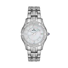 Bulova Women's Crystal Stainless Steel Watch - 96L116
