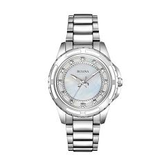 Bulova Women's Diamond Stainless Steel Watch - 96P144