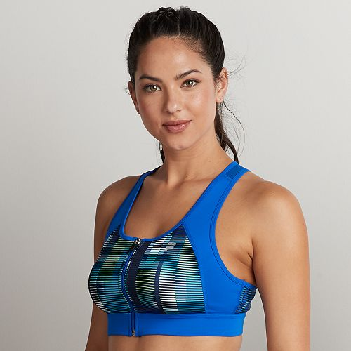 FILA SPORT® Zip Front Medium-Impact Sports Bra