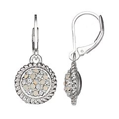 Napier Simulated Crystal Disc Drop Earrings