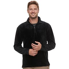 Men's Haggar Regular-Fit In-Motion Stretch Velour Quarter-Zip Pullover