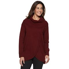 Women's Napa Valley Cowlneck Tulip-Hem Tunic Sweater