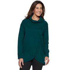 Women's Napa Valley Cowlneck Tulip-Hem Tunic Sweater