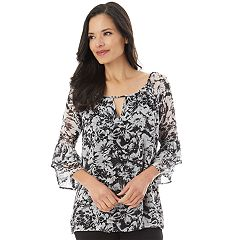 Women's Apt. 9® Printed Keyhole Top