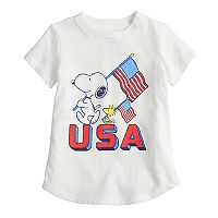 Toddler Girl Jumping Beans® Patriotic Snoopy & Woodstock Graphic Tee