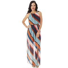 Women's Apt. 9® Striped Chiffon Maxi Dress