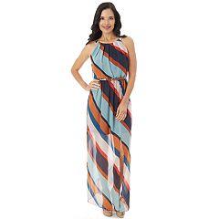 Women's Apt. 9® Striped Chiffon Maxi Dress