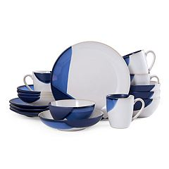 Gourmet Basics Caden Blue 16 pc Dinnerware Set