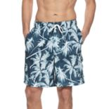 Men's Croft & Barrow® Classic-Fit Palm Tree Swim Trunks