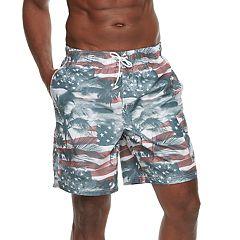 Men's Croft & Barrow® American Palms Swim Trunks
