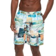 Men's Croft & Barrow® Sunday News Swim Trunks