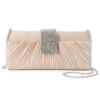 Gunne Sax Alaina Pleated Satin Crossbody Clutch