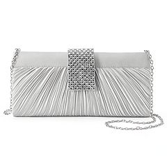 Gunne Sax by Jessica McClintock Alaina Pleated Satin Crossbody Clutch