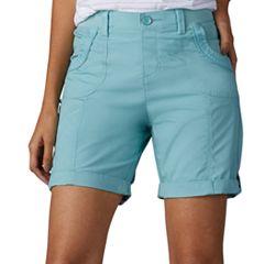 Women's Lee Melody Comfort Waist Poplin Roll-Cuff Bermuda Shorts