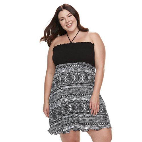 Plus Size Apt. 9® Smocked Tube Cover-Up