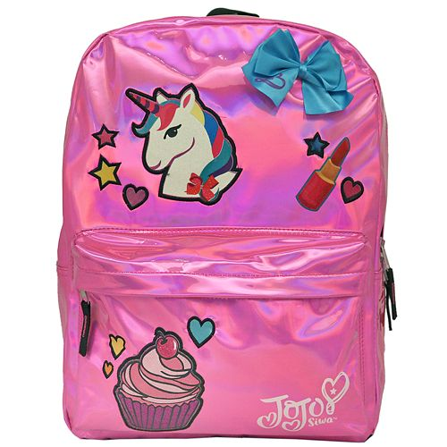 Kids JoJo Siwa Unicorn Bow /& Lipstick Backpack Cupcake