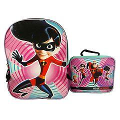 Kids Disney / Pixar The Incredibles 2 Violet Backpack & Lunchbox Set