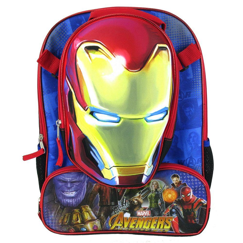 b1105b93c1 Kids Marvel Avengers  Infinity War Iron Man Backpack   Lunchbox Set