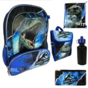 Kids Jurassic World Backpack, Lunchbox, Cinch Sack, Pencil Case & Water Bottle Set
