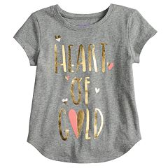 Baby Girl Jumping Beans® Graphic Shirttail-Hem Tee