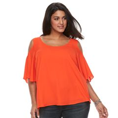 Plus Size Apt. 9® Cross Back Cold Shoulder Top