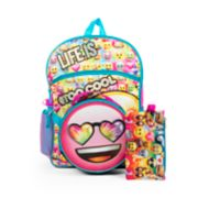 "Kids ""Life Is #TooCool"" Backpack, Lunch Bag, Pencil Case, Water Bottle & Carabiner Clip Set"